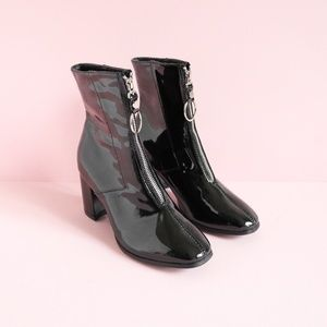 Forever 21 Patent Leather Boots